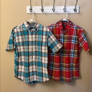 Lands End Short-sleeve S 14-14 1/2 Traditional fit